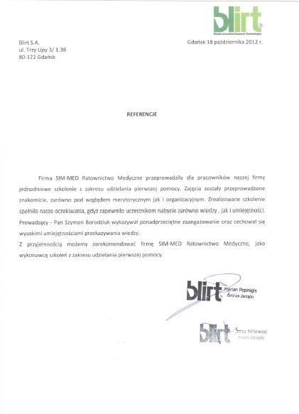 referencje-Blirt-simmed